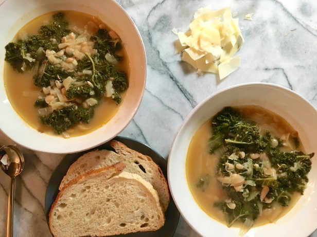 Kale and White Bean Soup, inspired by Martha Stewart | everydaysoiree.co
